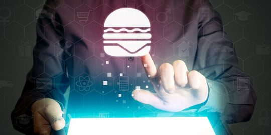 Tablet with Burger
